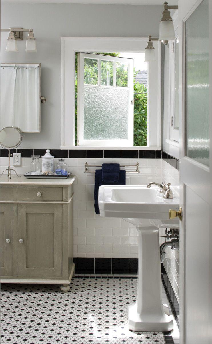 Black Mosaic Tile Bathroom Floor In 2020 Black And White Tiles Bathroom White Mosaic Bathroom Mosaic Floor Bathroom