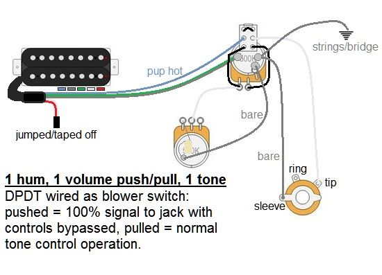 wiring diagram for les paul jr guitar