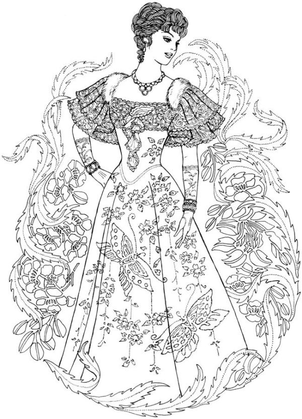 Creative Haven Art Nouveau Fashions Coloring Book - Welcome to Dover ...