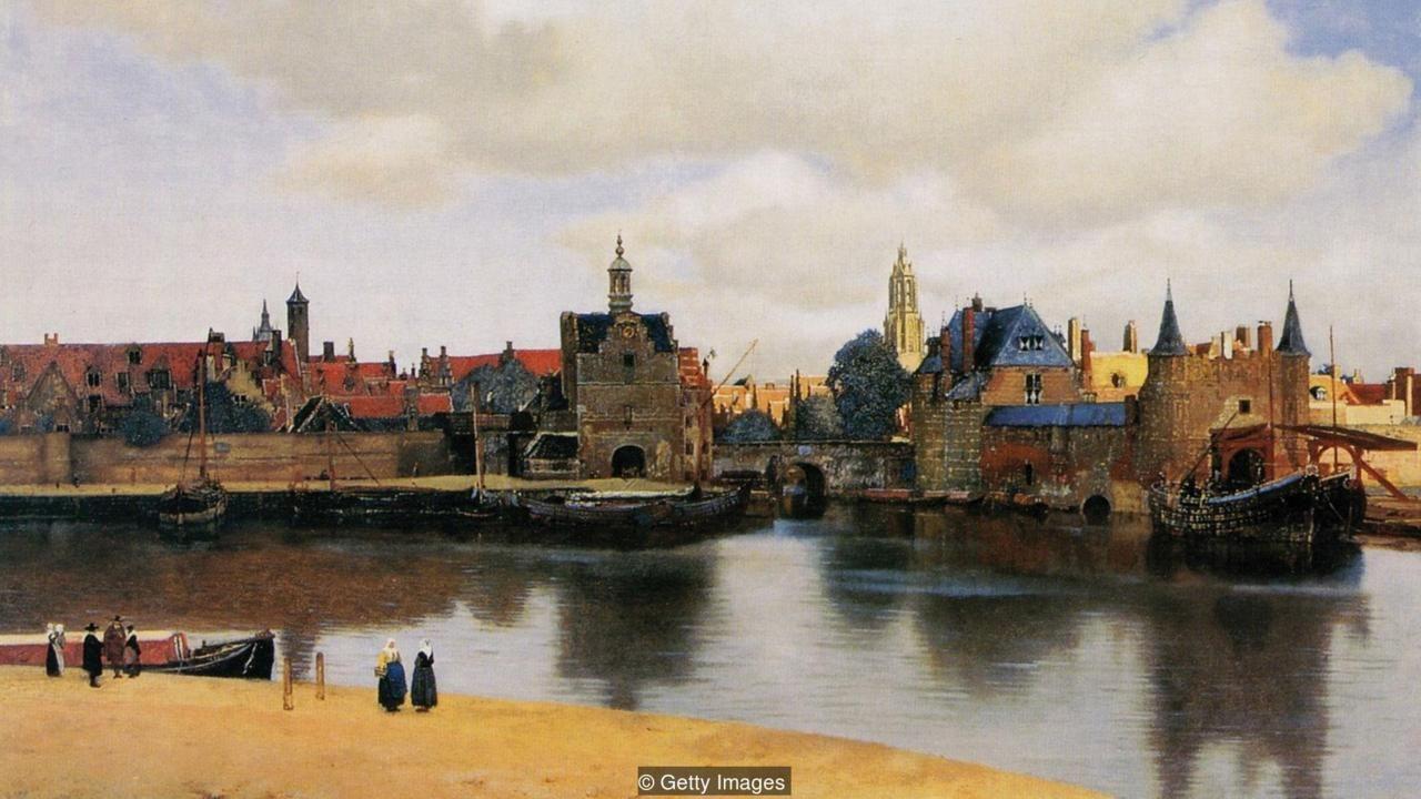 View of Delft by Johannes Vermeer (Dutch, 1632–1675), ca. 1660-61, Koninklijk Kabinet van Schilderijen Mauritshuis, The Hague | dutch and deltt | Johannes ...