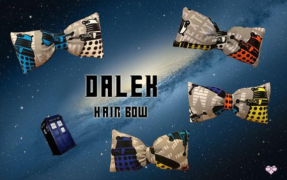 Dr. Who Dalek Hair Bow by NerdsWithVaginas on Etsy