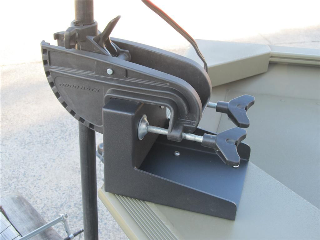 Black Aluminum Transom Plate Engine Bracket Mount Dinghy Boat Parts Hardware