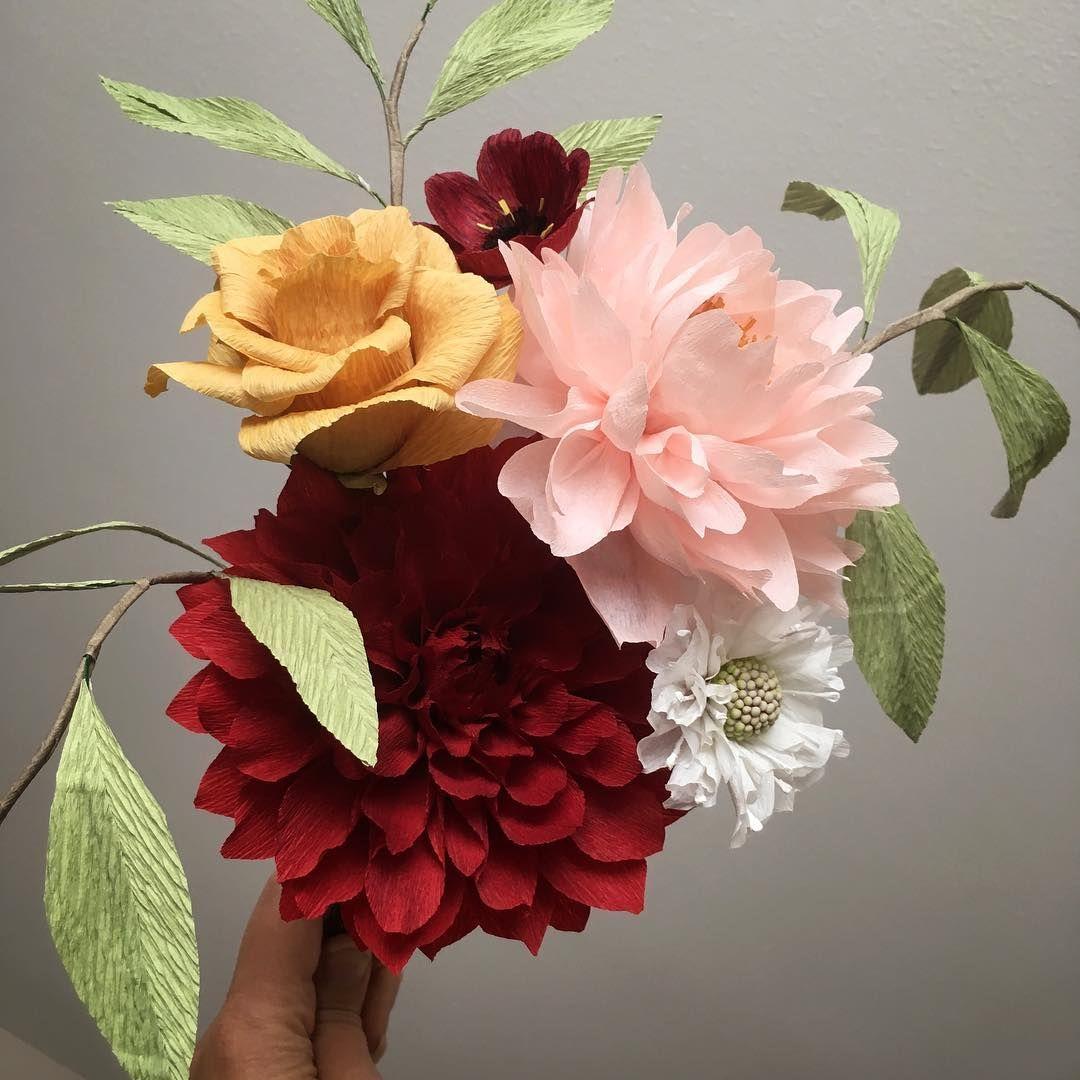 Hellebore and some Craspedia    paperflowers paperflorist