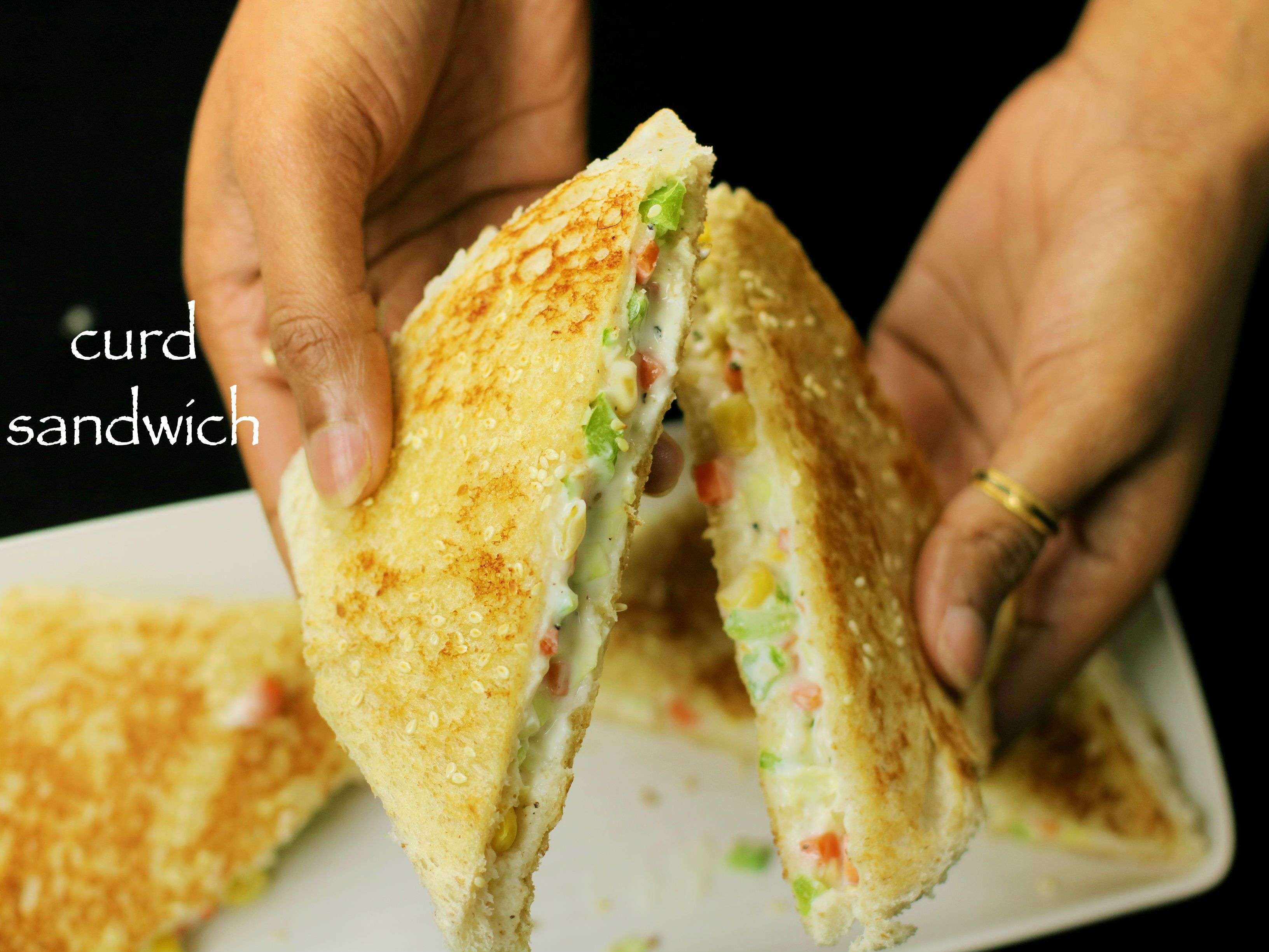 Curd Sandwich Recipe Yogurt Sandwich Recipe Kids Lunch Box