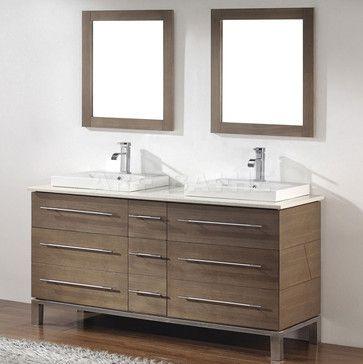Art Bathe Ginza 63 Smoked Ash Bathroom Vanity - Contemporary