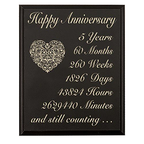 5th Wedding Anniversary Wall Plaque Gifts For Couple 5 Year Anniversary Gifts For 5th Wedding Anniversary Anniversary Gifts For Him Wedding Anniversary Message