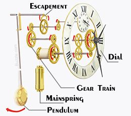 Worksheets Parts Of A Clock parts of a grandfather clock and an explaination their functions