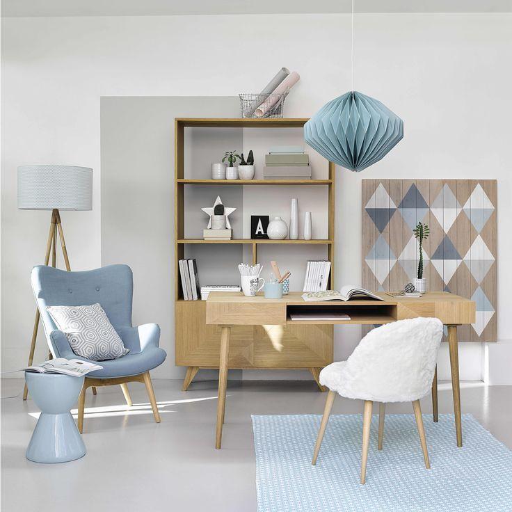 Fauteuil Style Scandinave Bleu Maisons Du Monde Meuble Deco Mobilier De Salon Deco Interieure