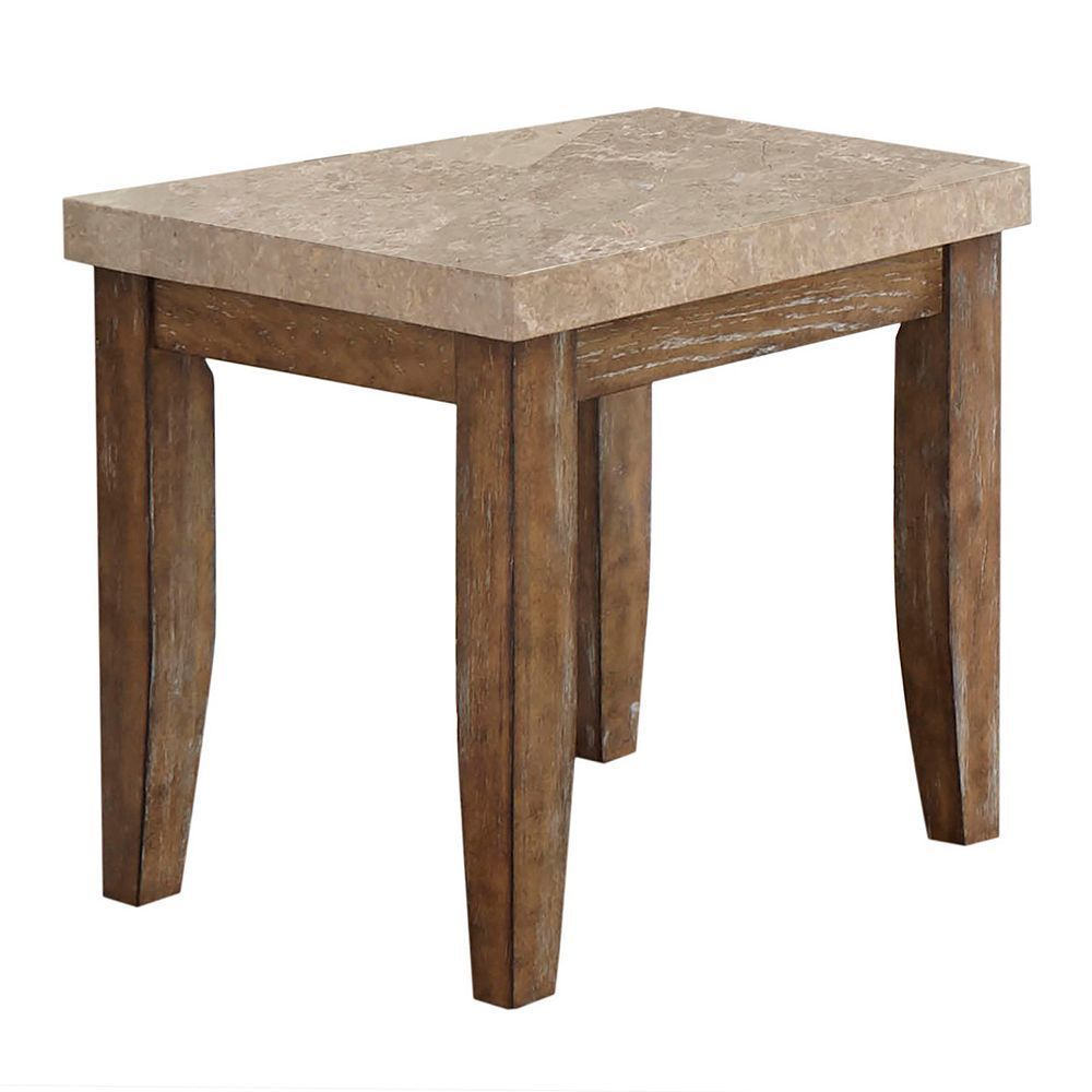 Franco Distressed End Table, Grey