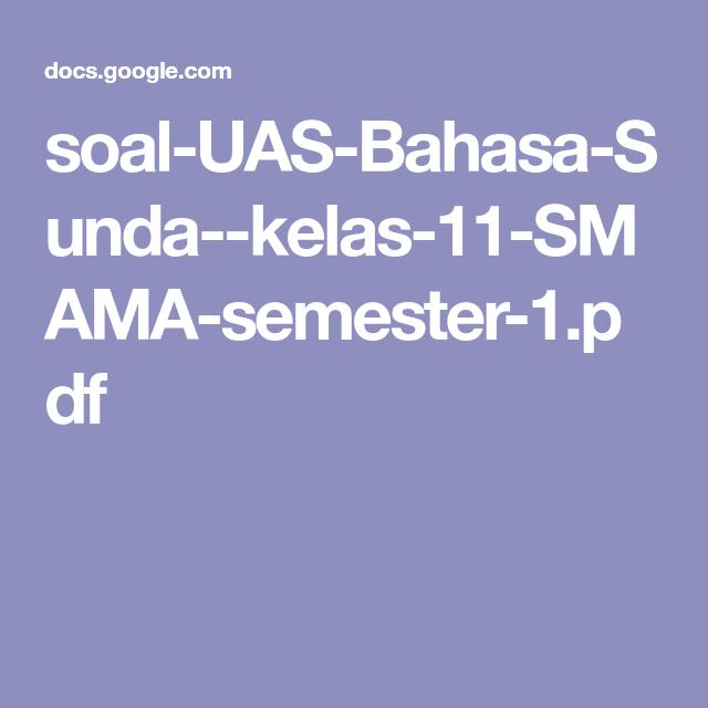 Soal Usbn Bahasa Sunda Smk 2019 Ilmu Soal