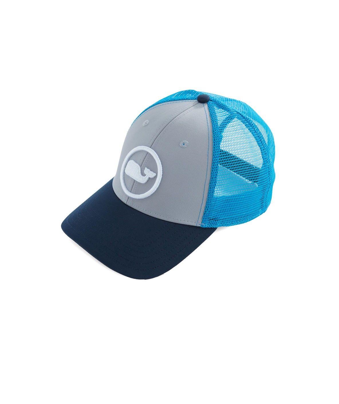 Vineyard Vines Whale Dot Performance Trucker Hat - Caribbean Green 1Sz b385fb65230