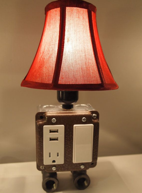 Vintage Style Table Or Desk Lamp With Usb Charging By