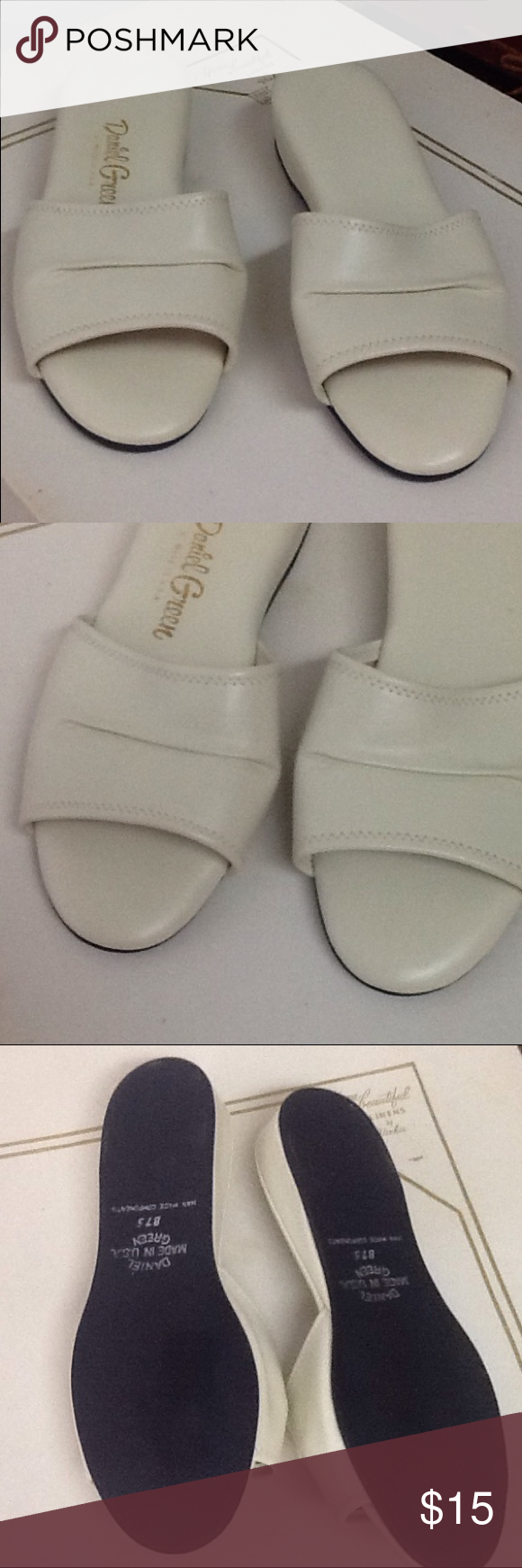 vintage daniel green house shoes | green shoes, flaws and ivory