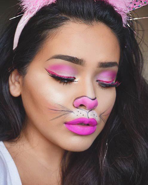 21 Easy DIY Halloween Makeup Looks | Bunny makeup, Bunny and ...