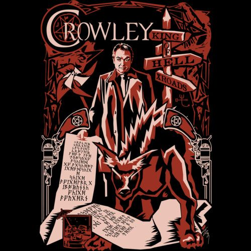 Shop Crowley by traceygurney available as a T Shirt, Art Print, Phone Case, Tank Top and Crew Neck.