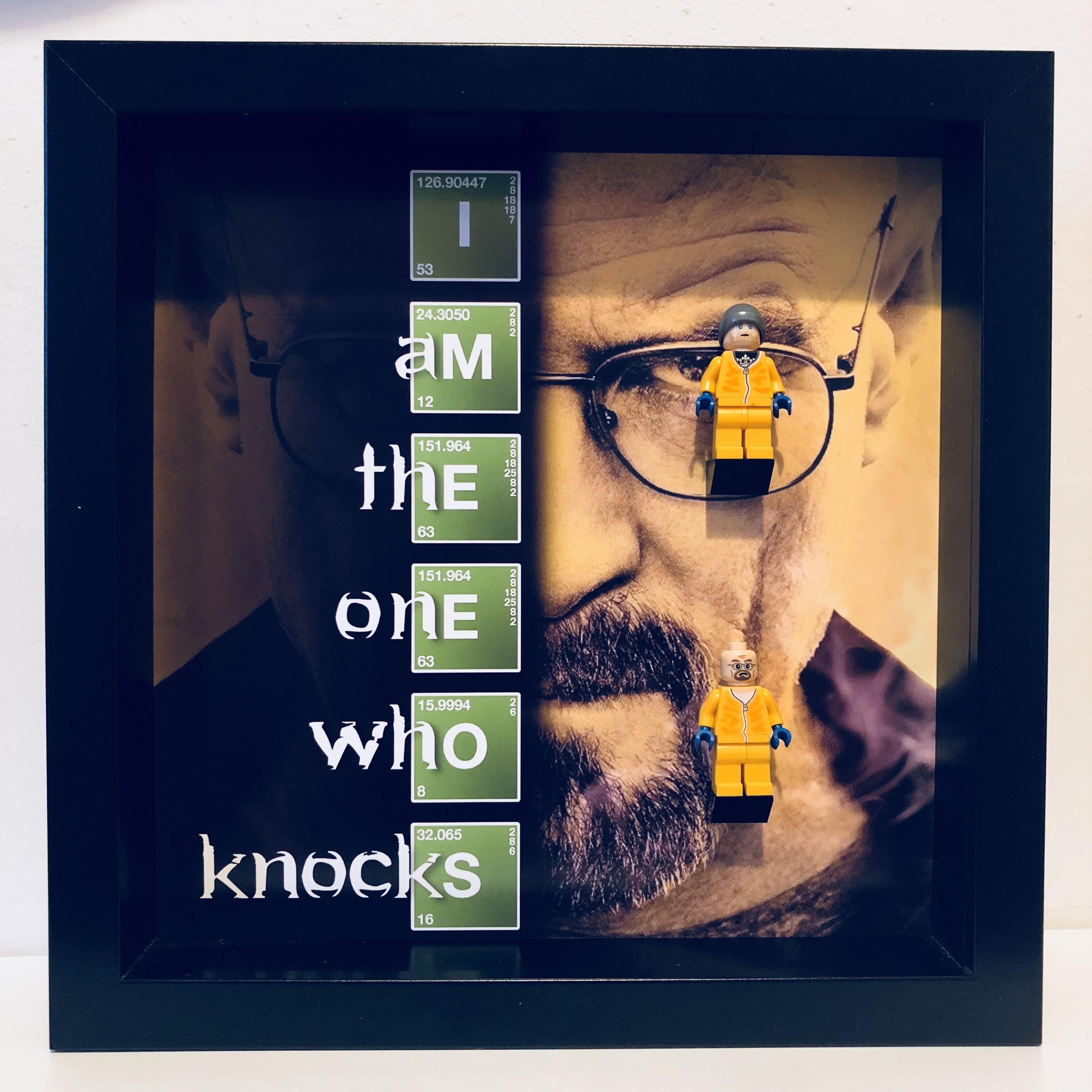 Breaking Bad 2PC Minifigure Frame, Mum, Gift, Geek, Box, Dad, Idea ...