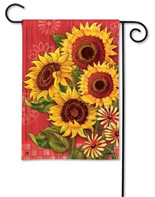 Red Barn Sunflowers Garden Flag #31096 $11.95