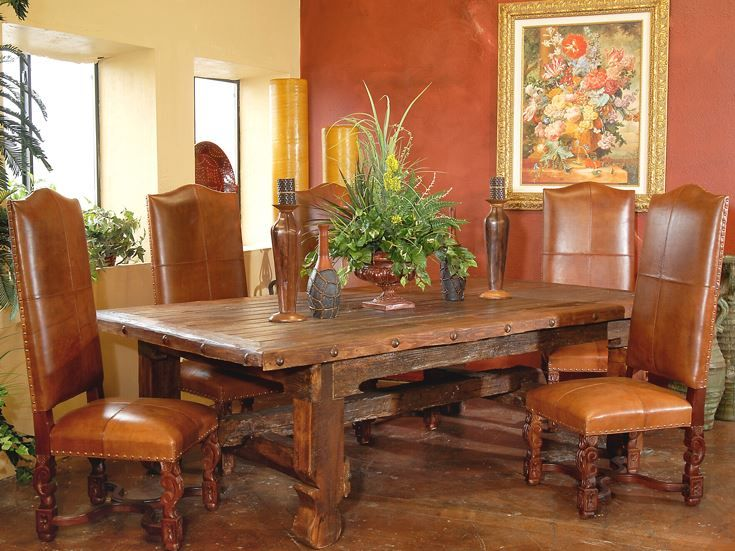 Rustic Mesquite Dining Table With Clavos Dining Table Rustic