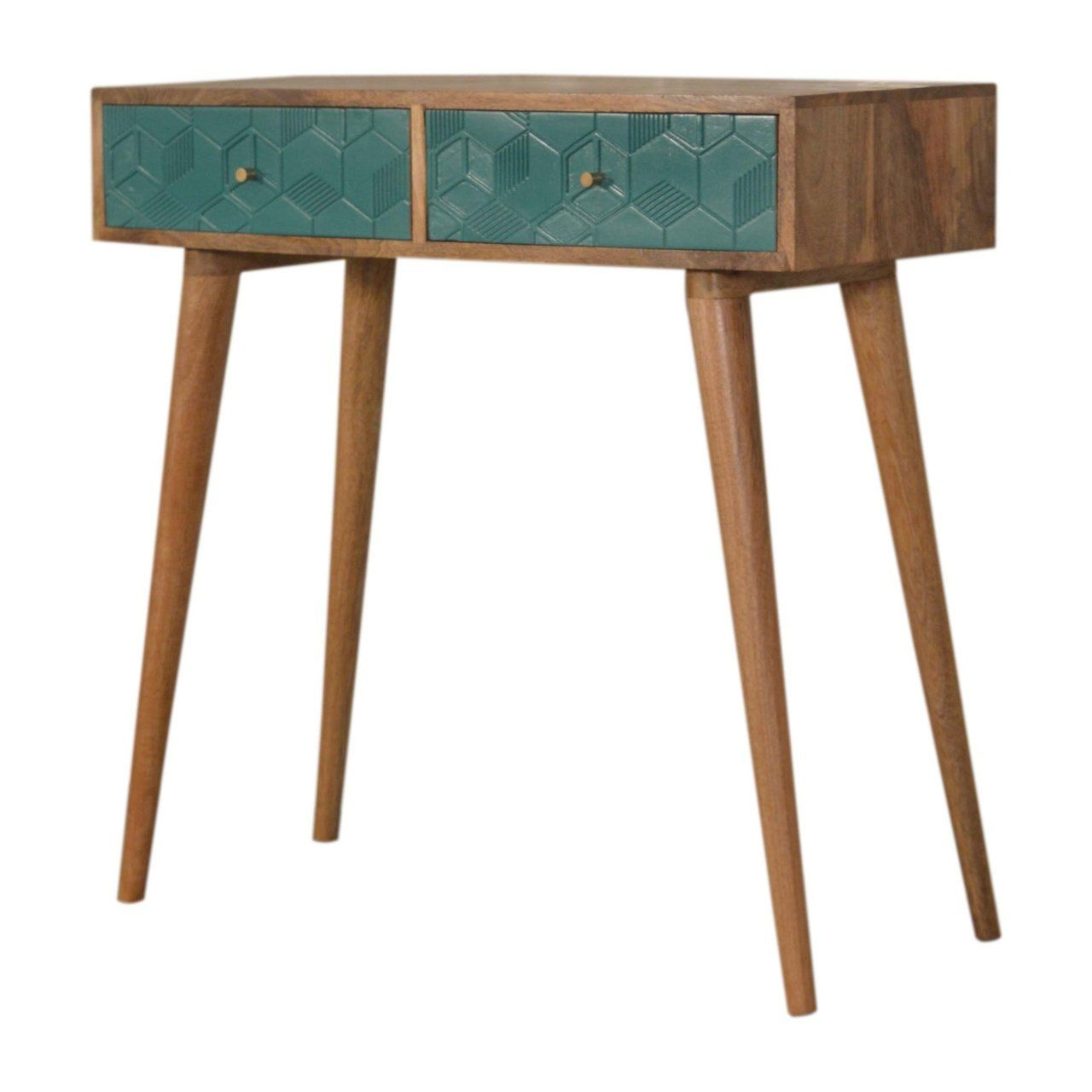 Photo of Acadia Teal Console Table