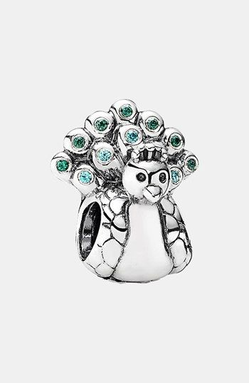 b668a1a34c Free shipping and returns on PANDORA Peacock Charm at Nordstrom.com. Blue  and green plumage brightens a tiny peacock carved from gleaming sterling  silver to ...