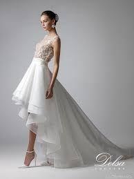 Vestido de novia con falda de gasa