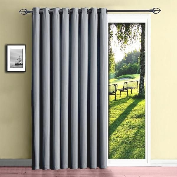 Insulated Blackout Sliding Door Or Patio Door Curtains In 5 Colors