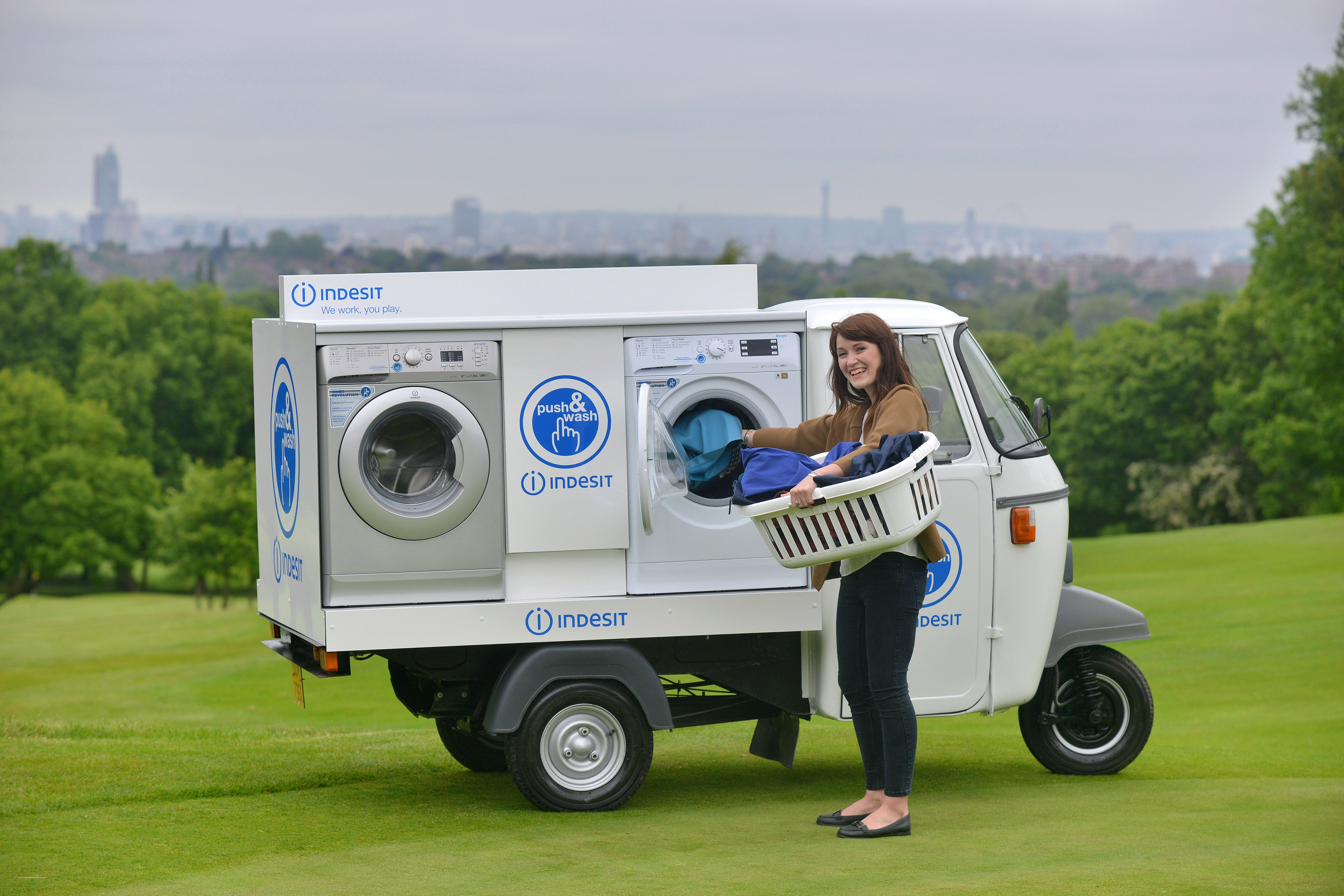 Indesit Launch The World S First Socially Powered Mobile Laundry