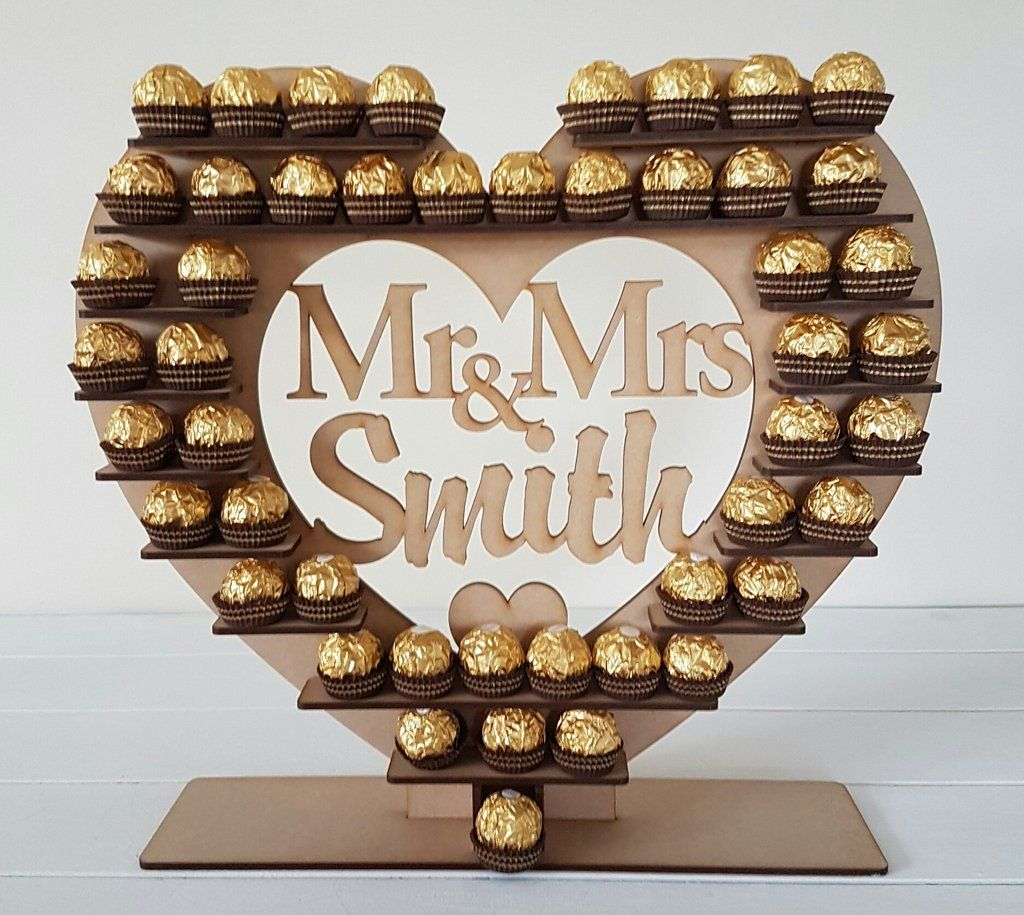 For Ferrero Rocher Mr/&Mrs Heart Wedding Display Stand Party Centrepiece 2019