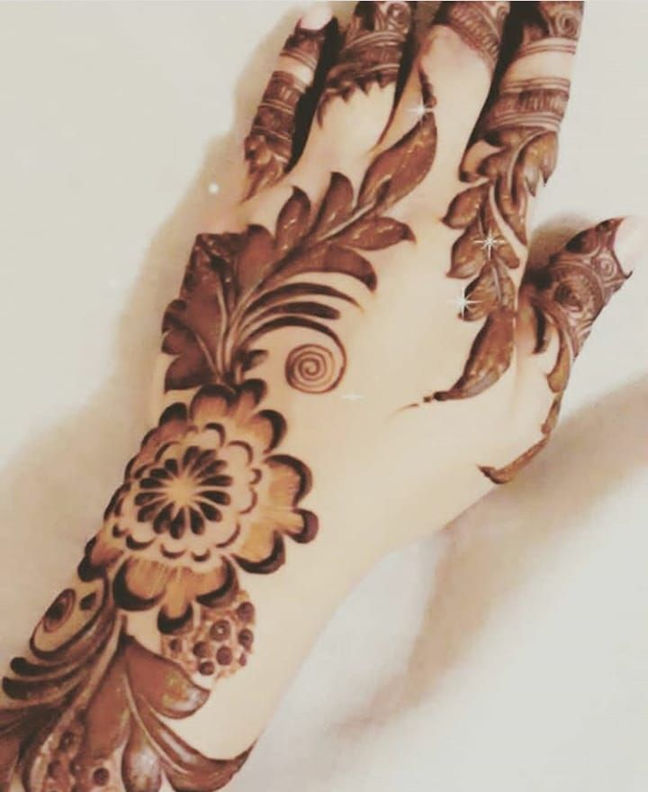 Beautiful Henna Design Drawing Red Black Lovley Beautiful