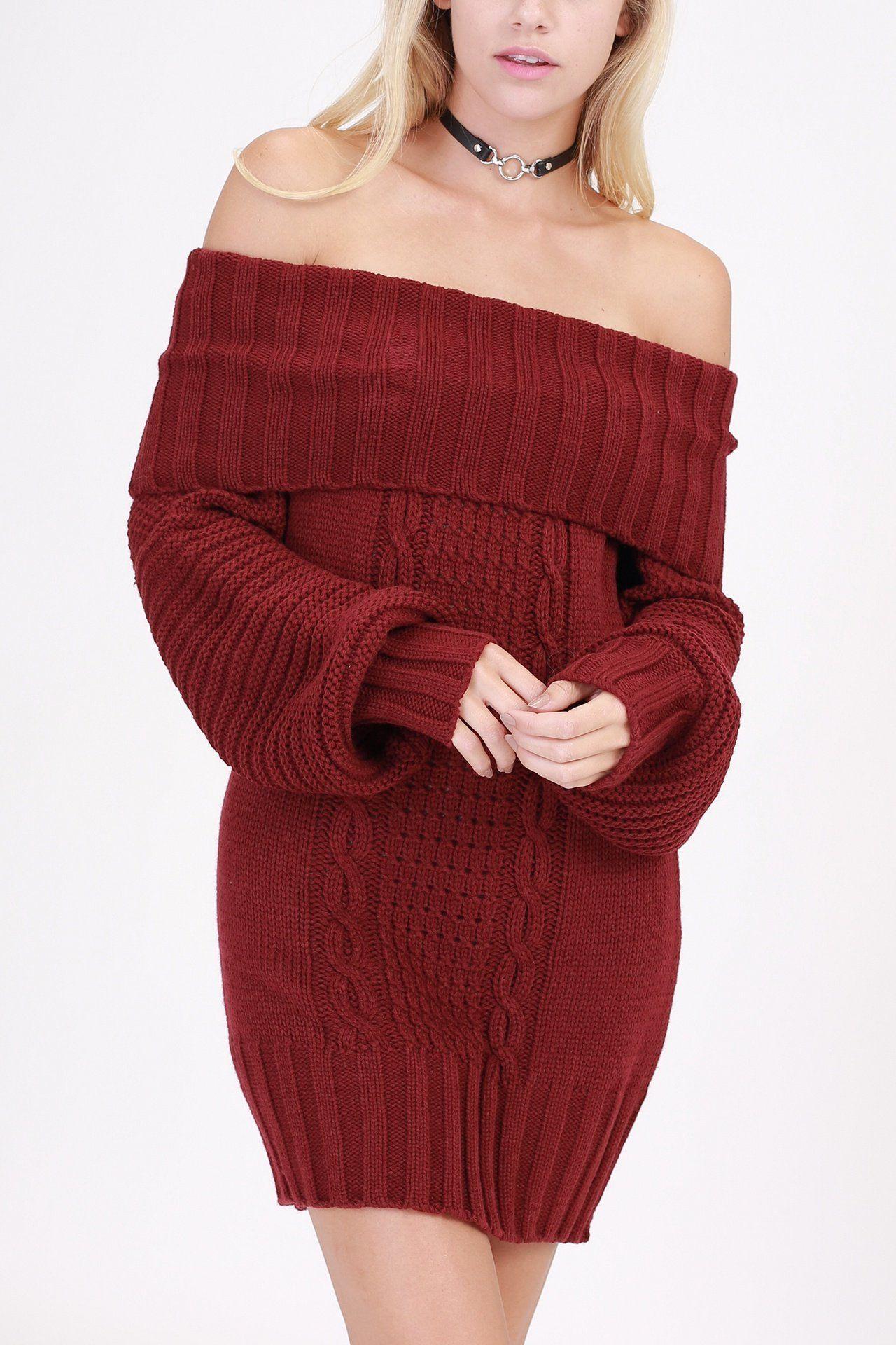 29++ Off shoulder sweater dress ideas