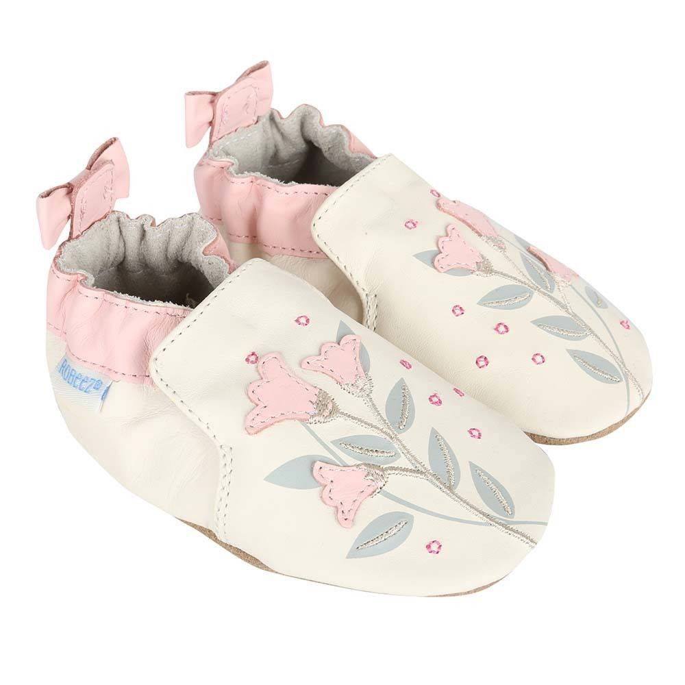 Girls' Baby Shoes in cream leather