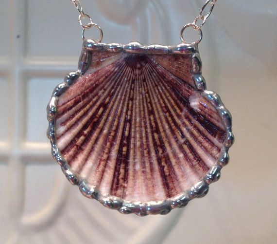 Patina Scallop Charm  Shell Charm  Necklace Charm  Scallop Shell  Beach Charm  Seashell  Sea Life Charm  1 Piece Charm