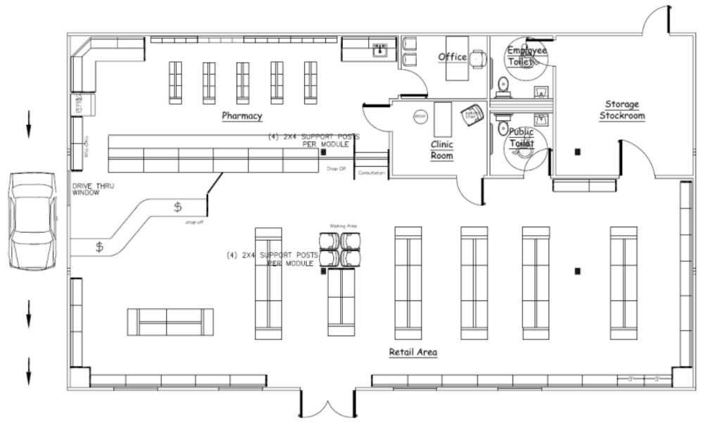 Retail Store Floor Plan Sample floor plans and photo  floorplans - new blueprint plan company