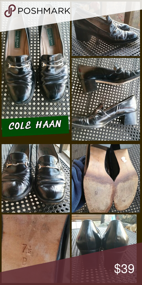 Cole Haan! Gorgeous Black Patent Leather Loafers!! Size 7.5B These shoes have a 1 3/4 heel and are just too cute! Still in great condition. See pics for details. Cole Haan Shoes