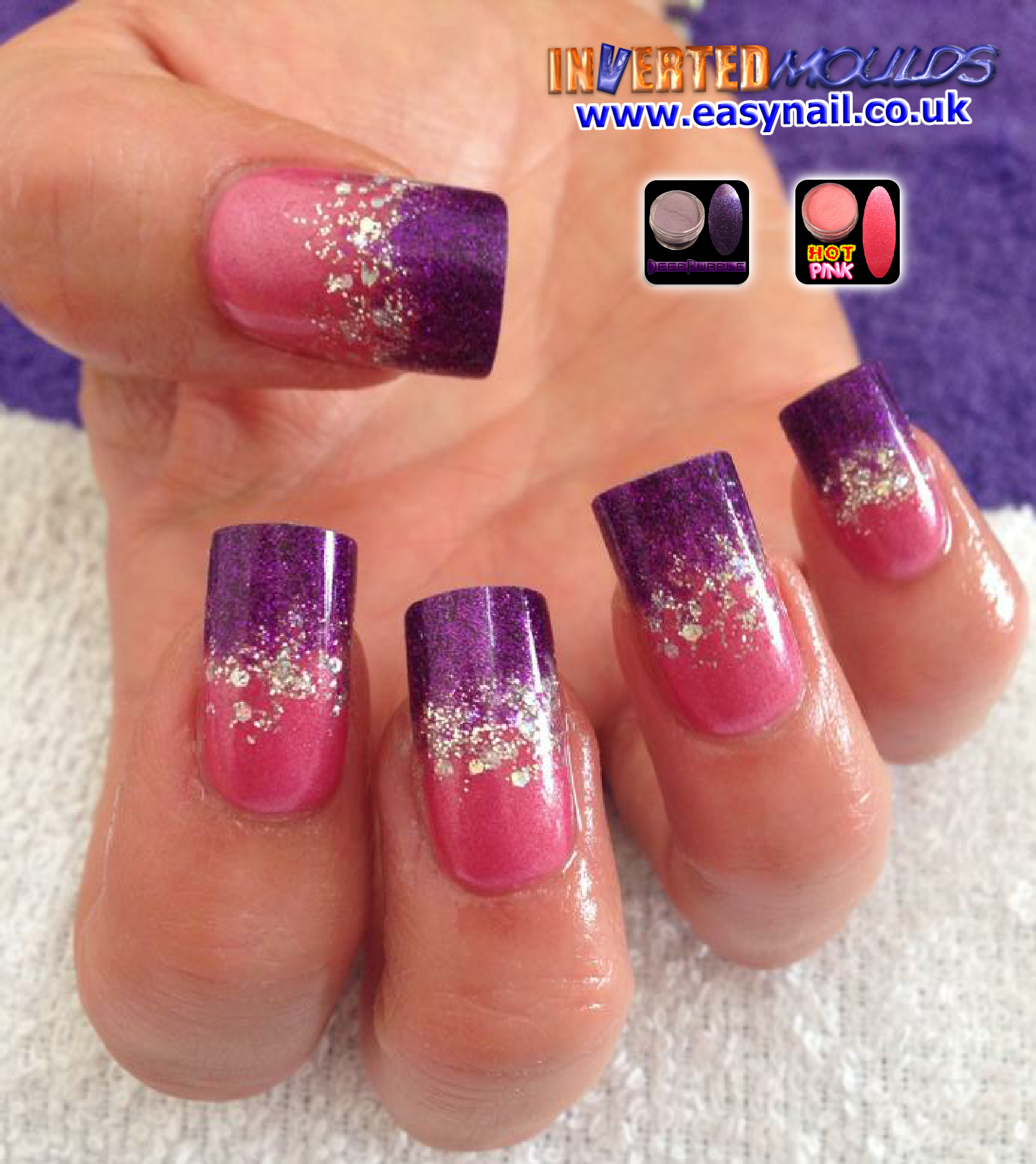Stunning hot pink and deep purple acrylic IM\'s by Laura Denton ...