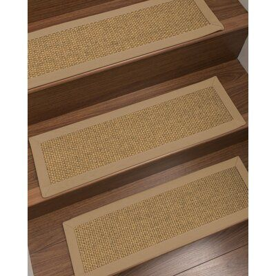 Best August Grove Fenoglio 100 Natural Fiber Stair Tread 400 x 300