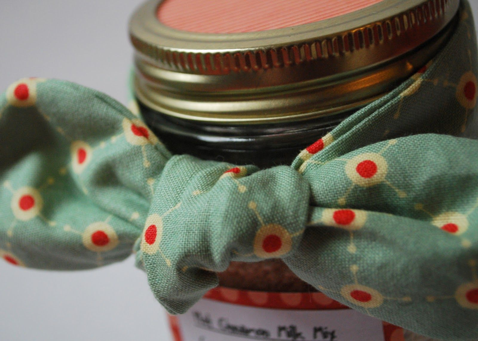 Fabric Bow Mason Jar Christmas Gift - U Create