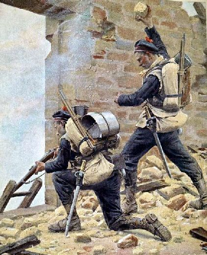 Uniformes France Guerre Franco Prussienne Dessin Militaire Guerre France