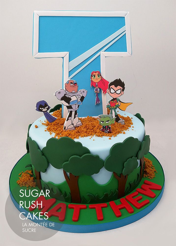 Teen Titans Go Cake  Childrens Play En 2019  Teen -5918