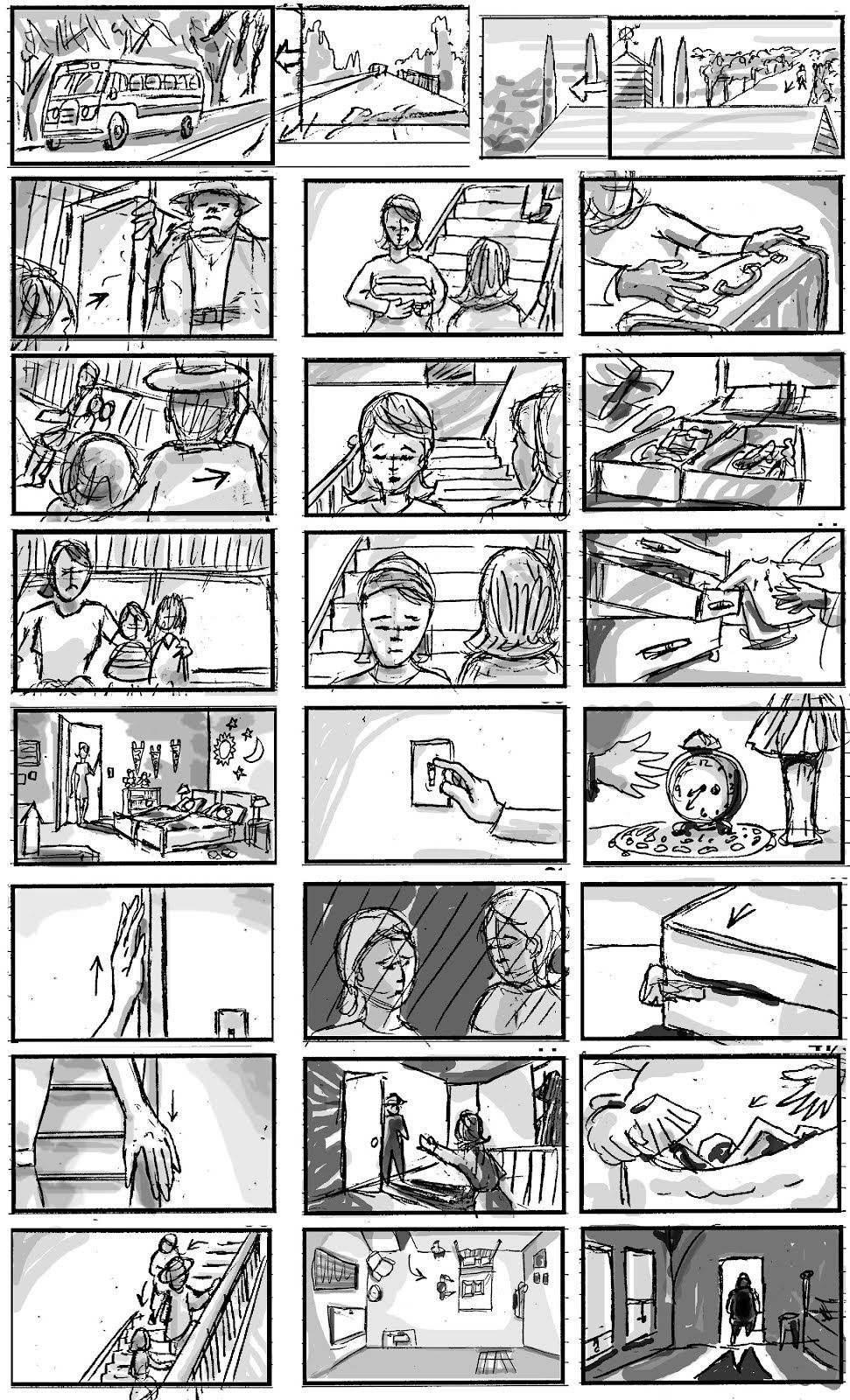 Van Dykes Storyboards Sketches Projects Storyboard Sample – Storyboard Sample