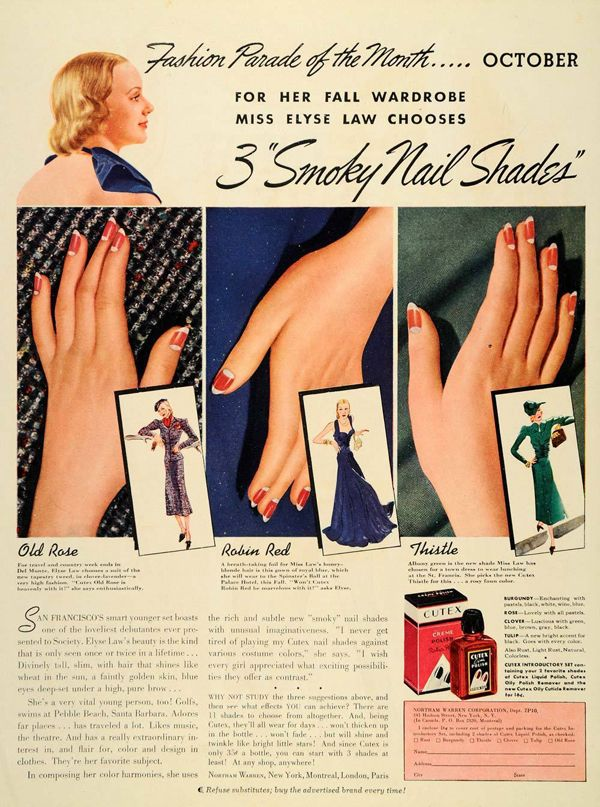 Vintage Nail Art to Inspire Your Next Mani -