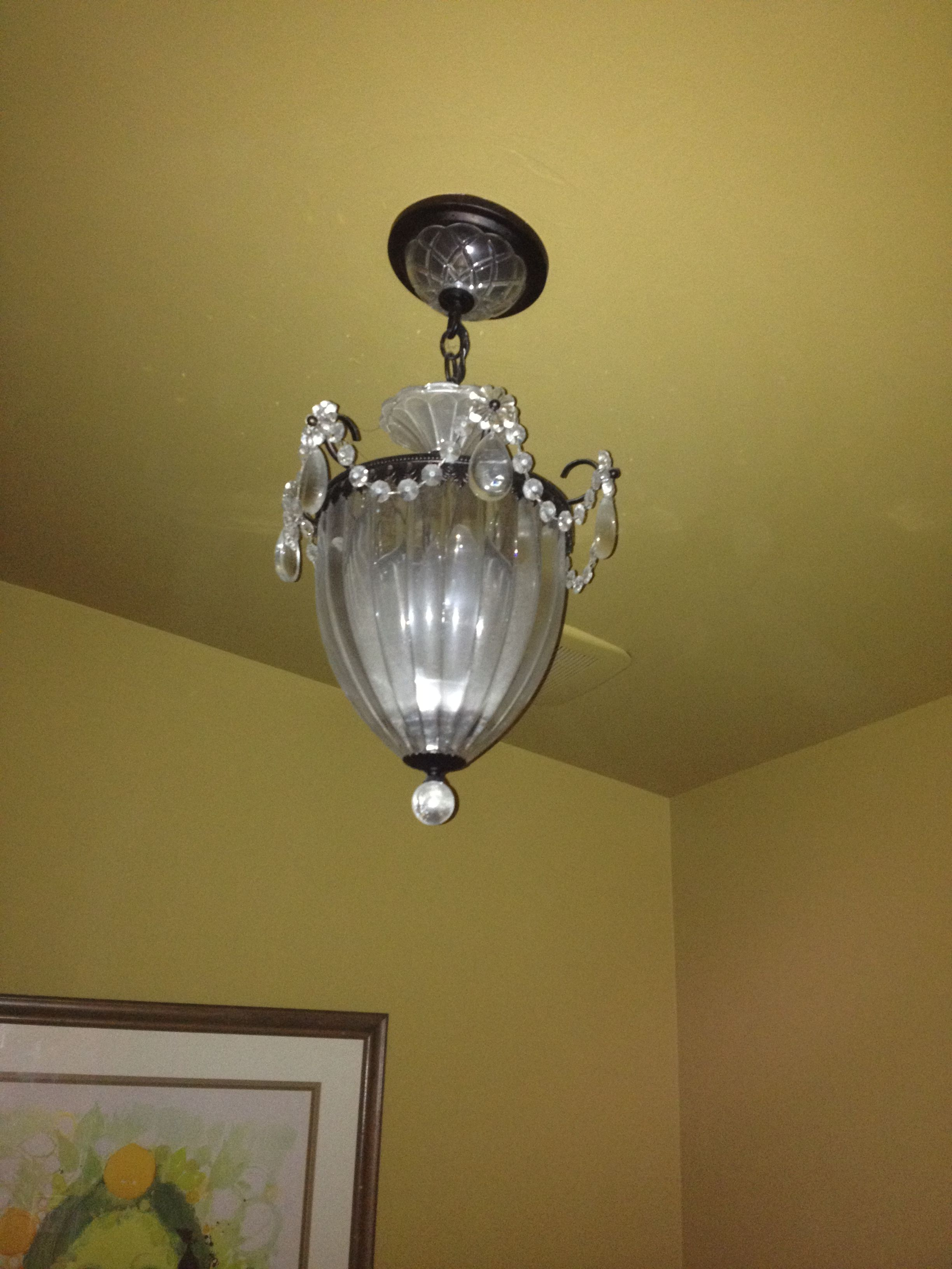 Small Chandelier in Powder Room | For the Home | Pinterest | Powder ...