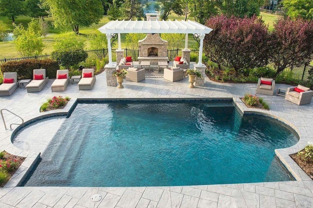 45 Landscaping Ideas For Backyard Swimming Pools Page 14 Of 49 Ciara 2020 Backyard Pool Landscaping Inground Pool Landscaping Swimming Pools Backyard
