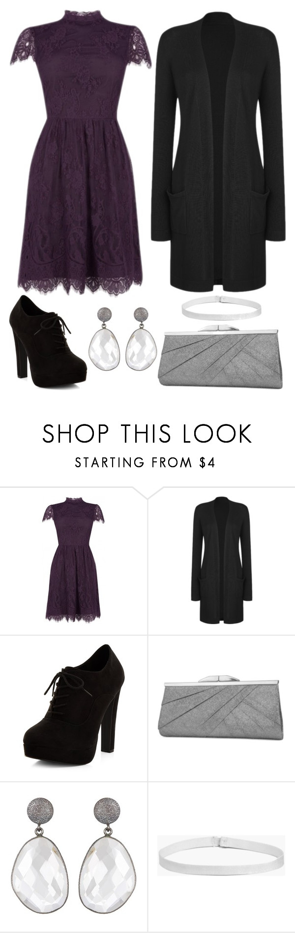 """Interlude"" by staysaneinsideinsanity ❤ liked on Polyvore featuring New Look, Jessica McClintock and Boohoo"