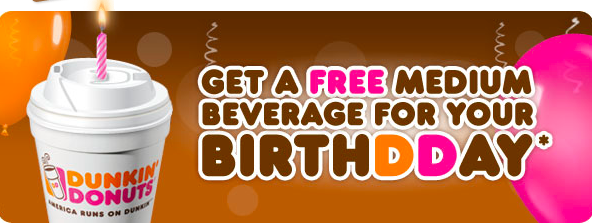 Free Dunkin Donuts On Birthday