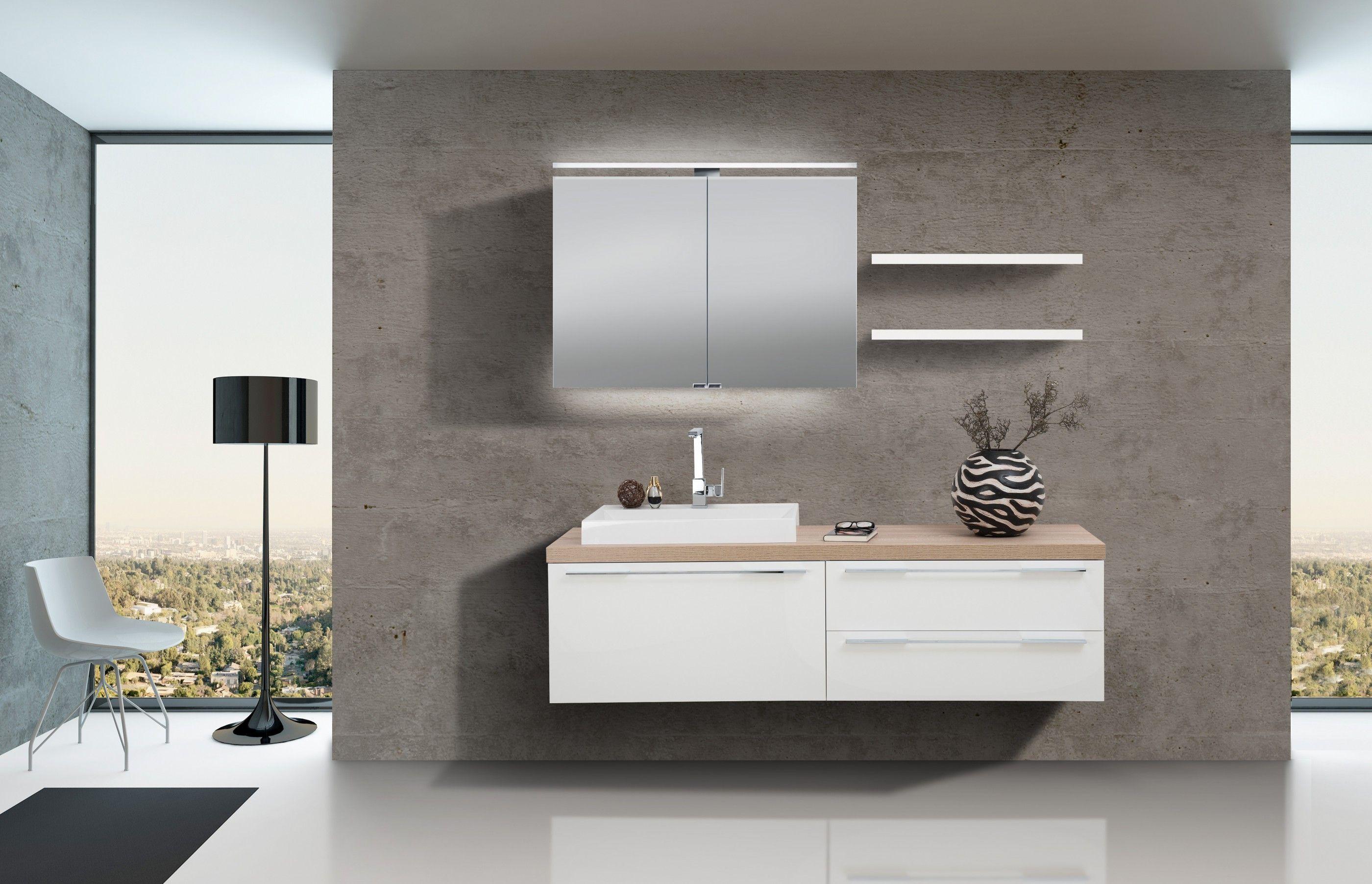 Badezimmer Set Mit Spiegelschrank Und Waschbecken Luxor In 2020