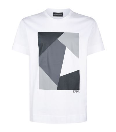 875a3488 Emporio Armani Square Graphic T-Shirt at harrods.com. Shop men's designer  fashion online & earn reward points.