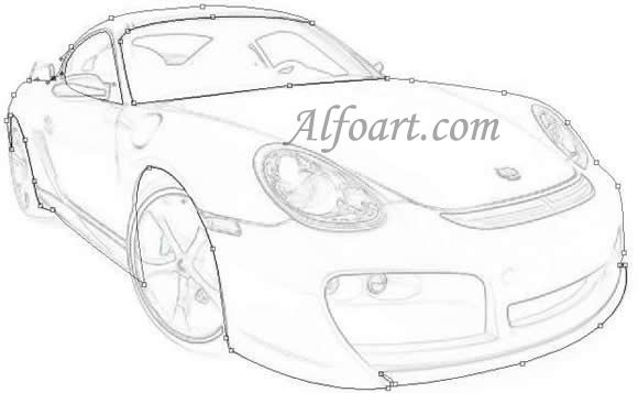 Learn to draw a realistic Porsche Cayman or how to make Porshe with ...