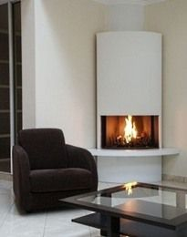 contemporry corner fireplaces | Modern Design Ideas For Round ...