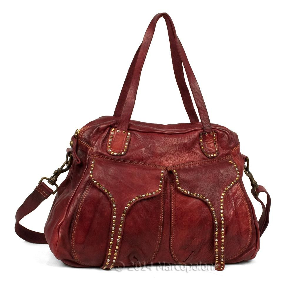 041a91685fd9 Really really love this one Leather Shoulder Tote with Studded Flaps -  MAJORANA by Campomaggi